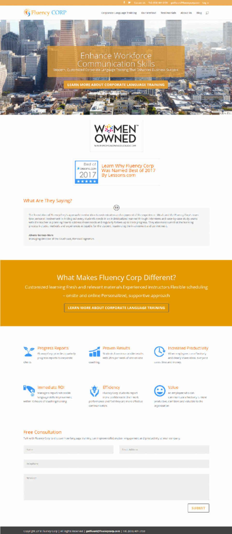 Website - Fluency Corp